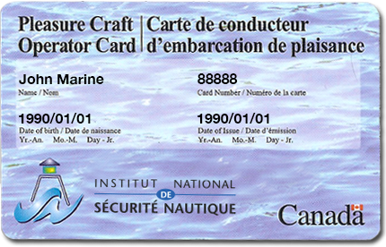 Pleasure craft licence form opinion