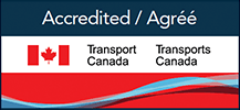 Accredited by Transports Canada